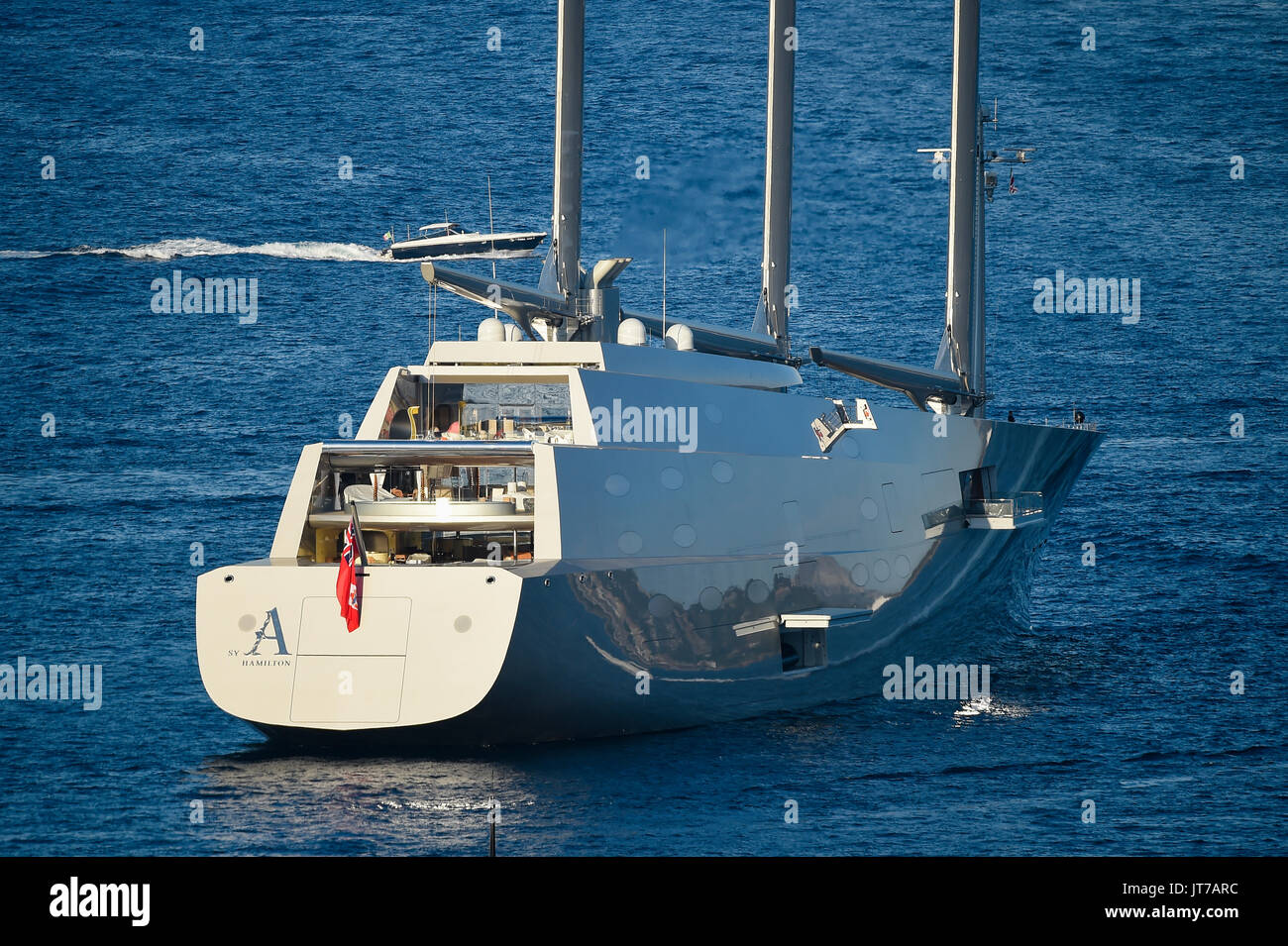 Sardinia Italy 07 August 2017 Sailing Yacht A Offshore From