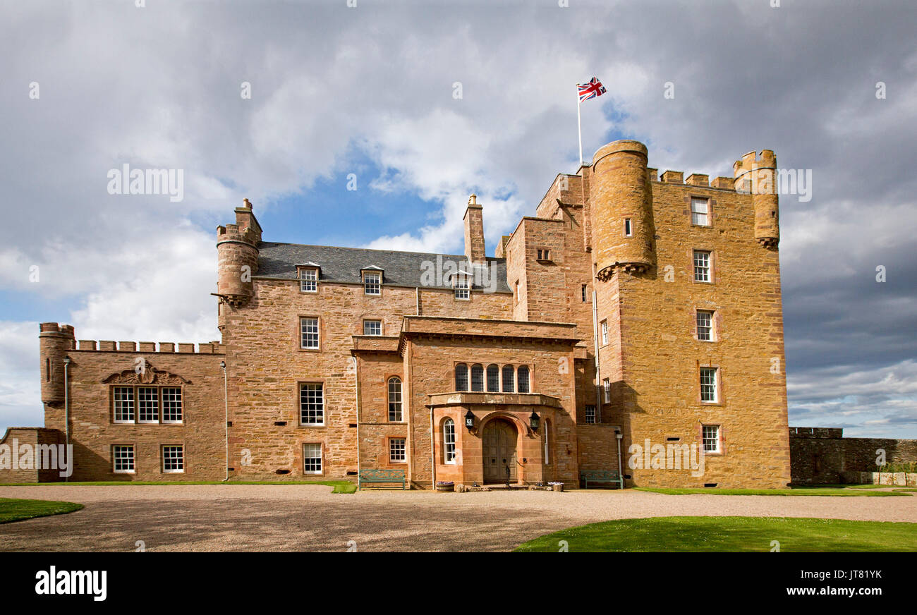 Castle of Mey, a country residence of the British royal family, at Thurso, Caithness, Scotland Stock Photo