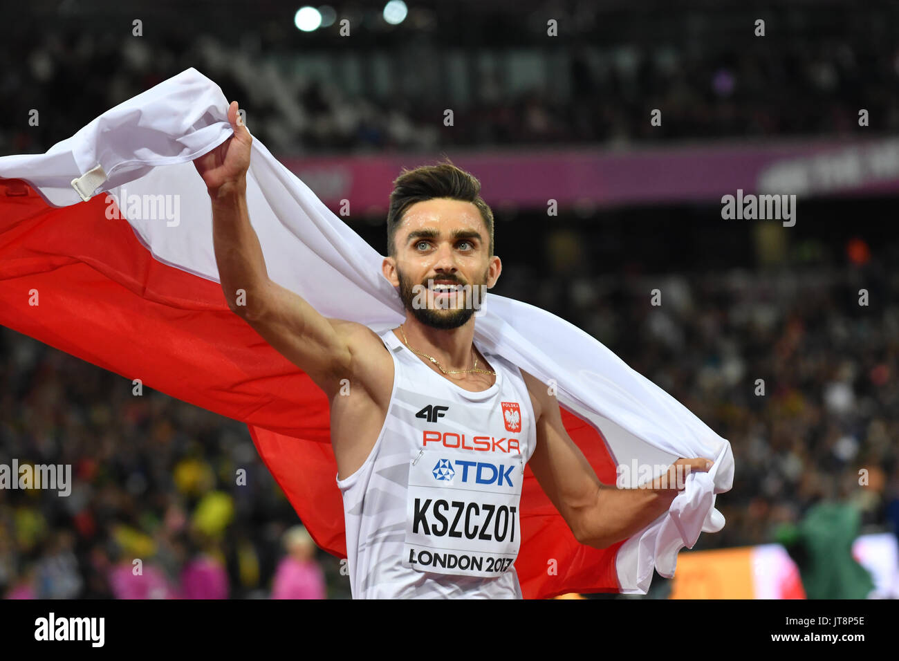 London, UK. 8th Aug, 2017. IAAF World Championships. Day 5. 800 Metres, Men. Final.Adam Kszczot (POL) Credit: Matthew Chattle/Alamy Live News - Stock Image