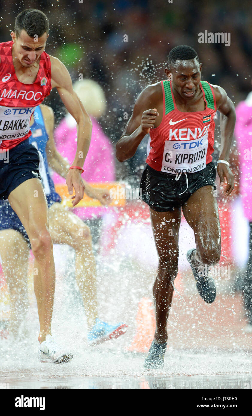 London, UK. 8th Aug, 2017. It may have been the first IAAF World Championships men's 3000m steeplechase since 2003 Stock Photo