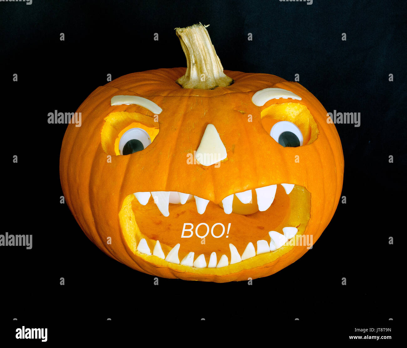 This scary Jack-o'-lantern face that was cut into a ...