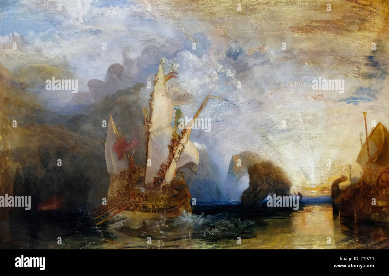 Ulysses deriding Polyphemus - Homer's Odyssey, 1829  Josph Mallord William Turner - Stock Image