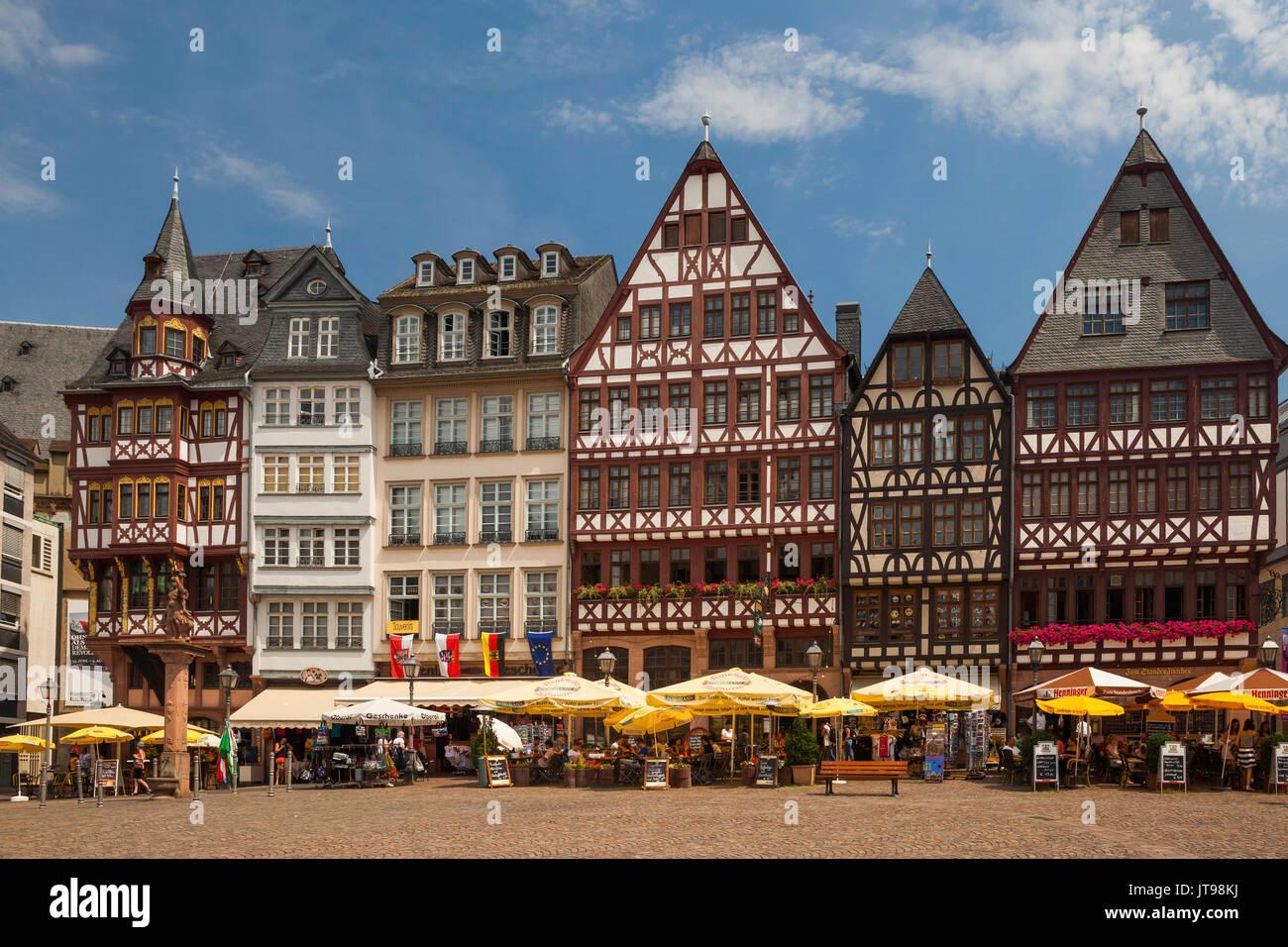 Romerberg, Altstadt, Frankurt Germany - Stock Image