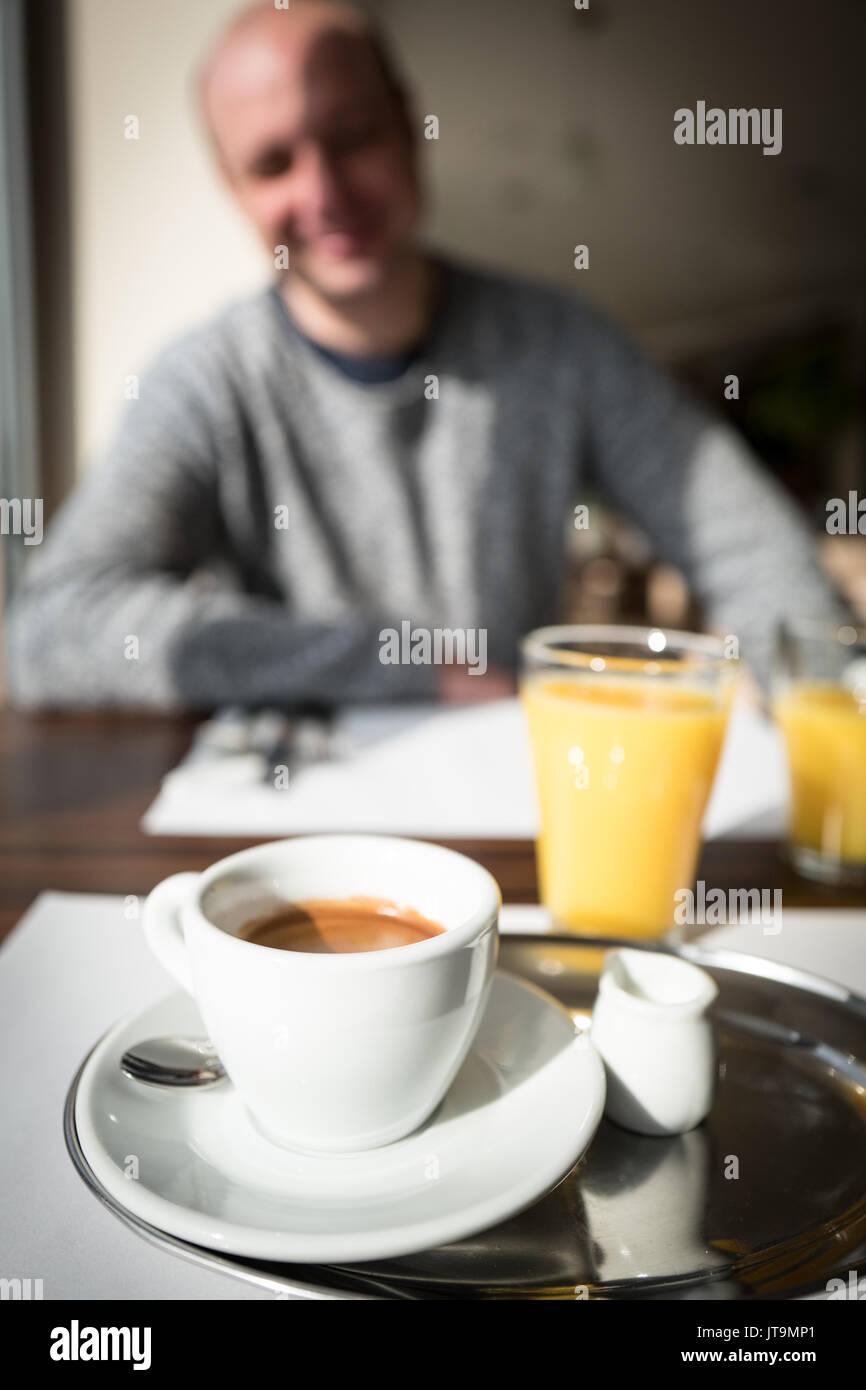 Hot coffee with foam milk art. Hot coffee in afternoon break ... #afternoonCoffee