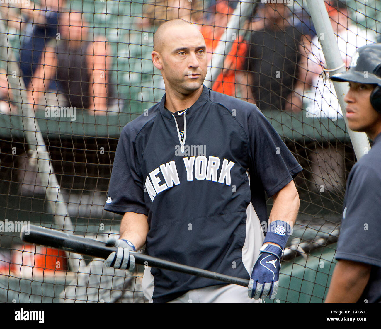 New York Yankees shortstop Derek Jeter (2) leaves the batting cage after  taking batting practice prior to the game against the Baltimore Orioles at  Oriole ... 4efc6dd8800