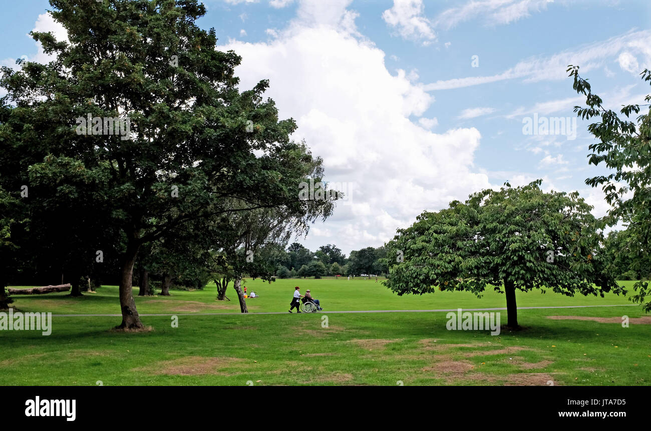 London UK - Tooting Bec park in South London - Stock Image