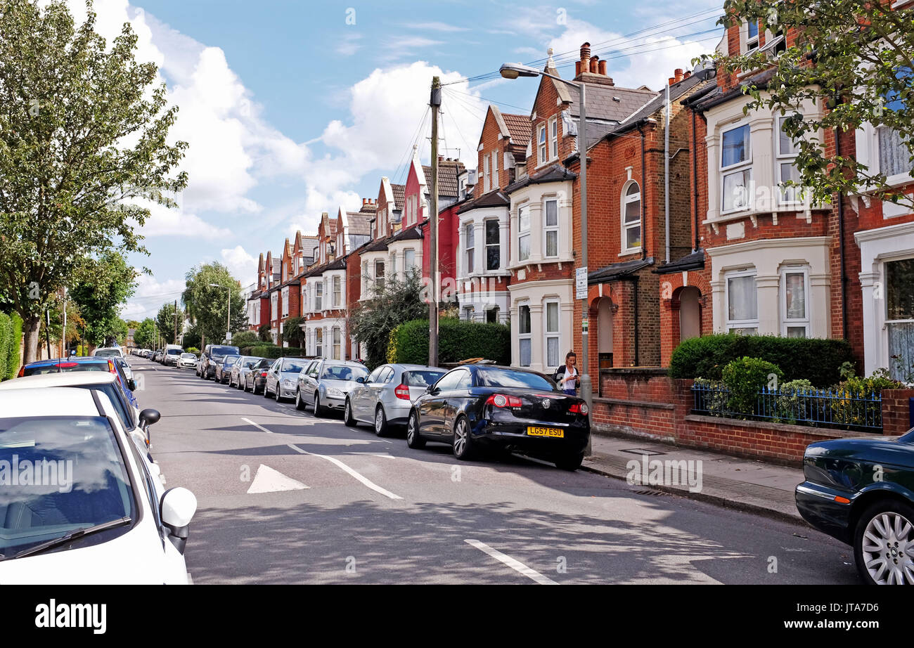 London UK - Manville Road Tooting South London - Stock Image
