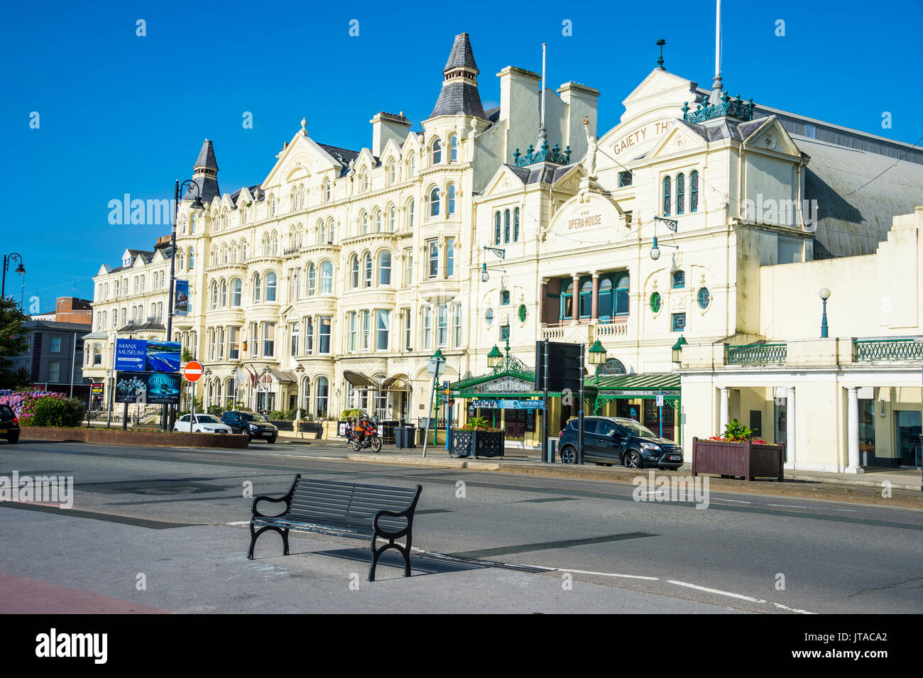 Palacial houses in Douglas, Isle of Man, crown dependency of the United Kingdom, Europe - Stock Image