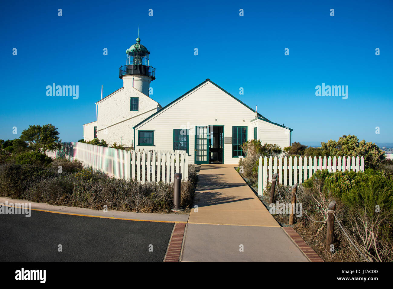 Old Point Loma lighthouse on the Cabrillo National Monument, Point Loma, San Diego, California, USA, North America - Stock Image