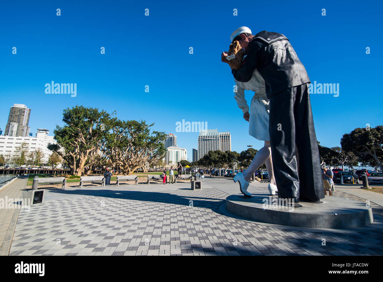 Embracing Peace memorial on the Ocean front of San Diego, California, United States of America, North America - Stock Image