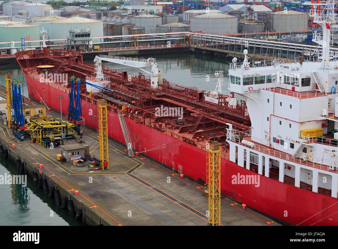 Oil tanker, Dublin Port, County Dublin, Republic of Ireland, Europe - Stock Image