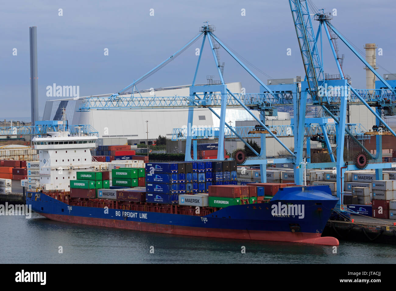 Container Port, Dublin City, County Dublin, Republic of Ireland, Europe - Stock Image