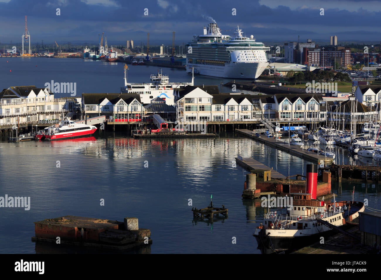 Town Quay, Port of Southampton, Hampshire, England, United Kingdom, Europe - Stock Image