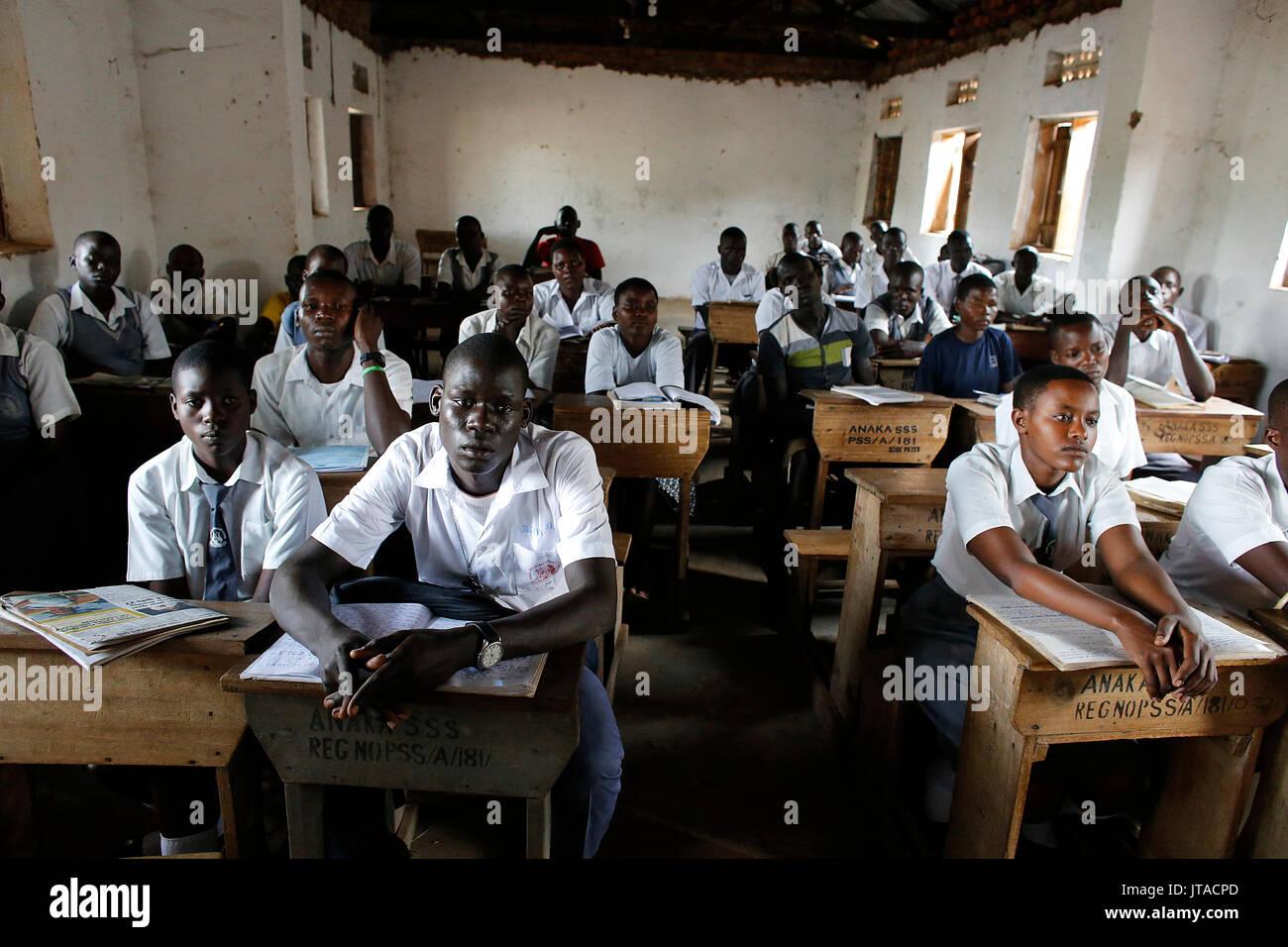 Anaka senior secondary school, Anaka, Uganda, Africa - Stock Image