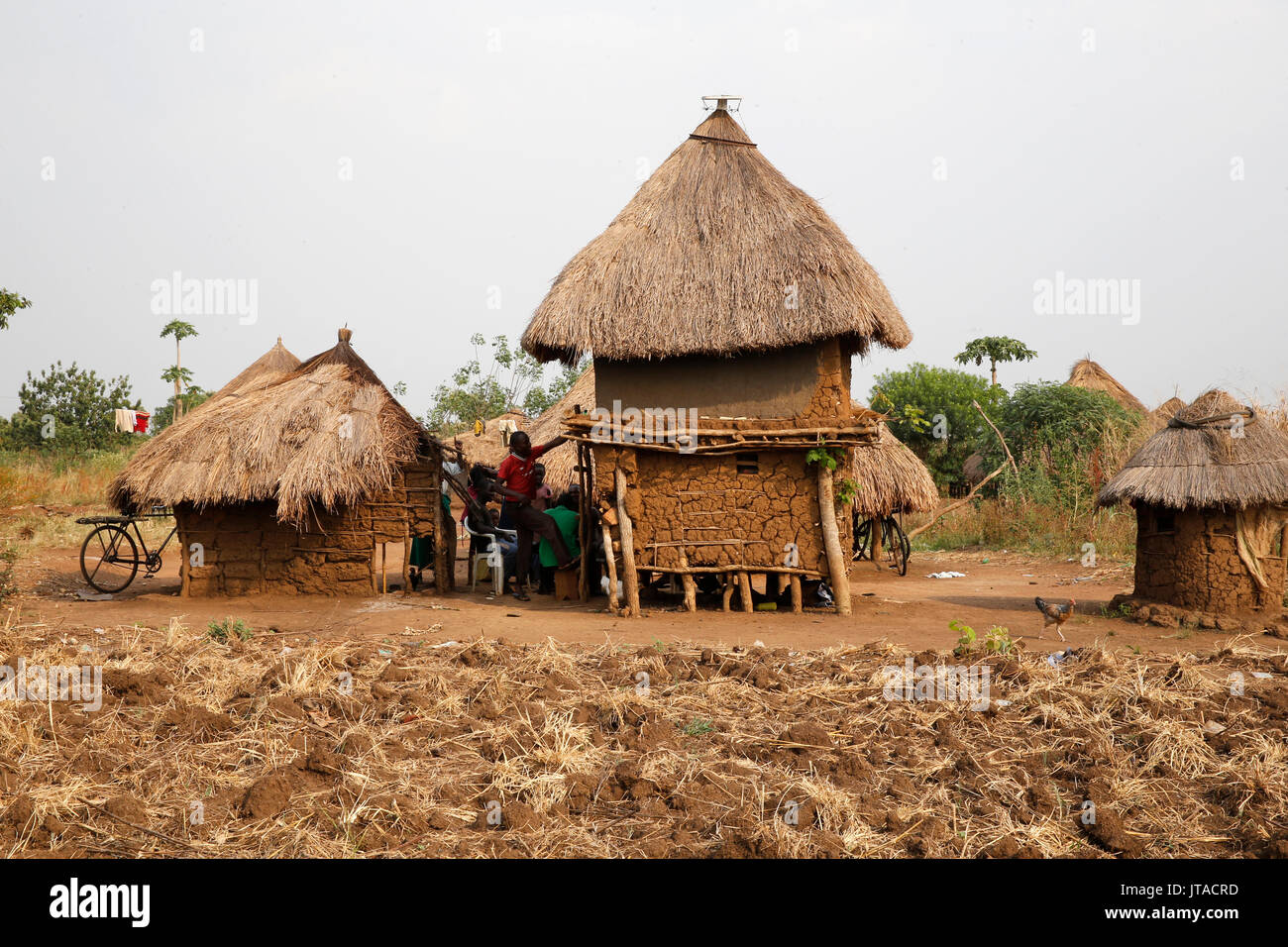 Ugandan village, Uganda, Africa Stock Photo