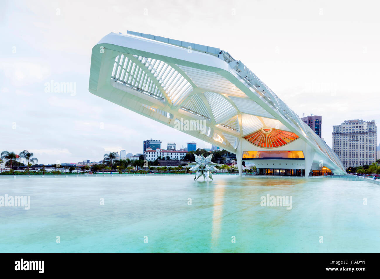 Museum of Tomorrow, an environmental museum in the city centre, architect Santiago Calatrava, Rio de Janeiro, Brazil - Stock Image