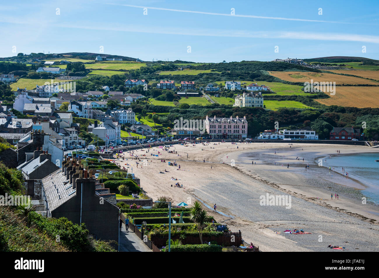 Beach of Port Erin, Isle of Man, crown dependency of the United Kingdom, Europe - Stock Image
