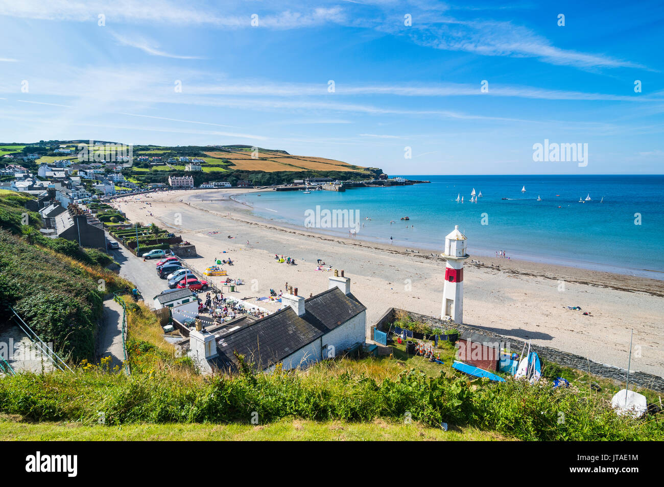 Beach of Port Erin, Isle of Man, crown dependency of the United Kingdom, Europe Stock Photo