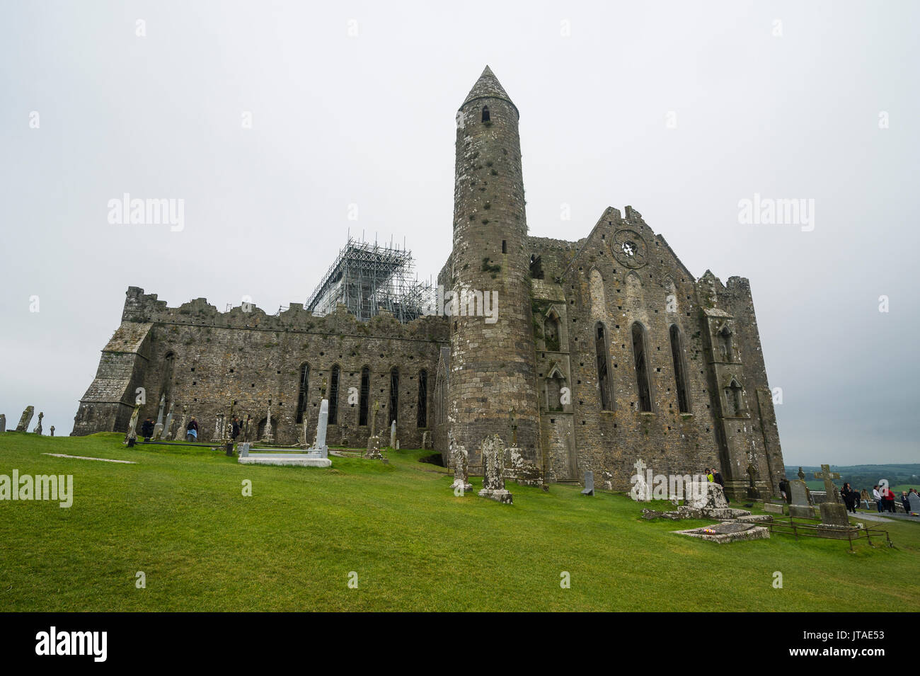 Cathedral on the Rock of Cashel, Cashel, County Tipperary, Munster, Republic of Ireland, Europe Stock Photo