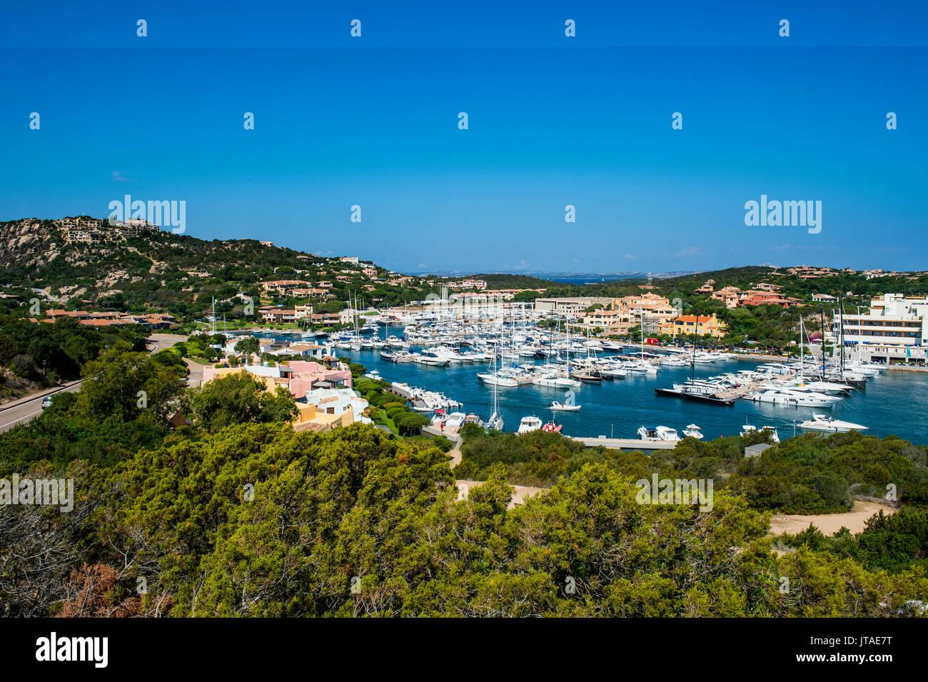 The bay of Porto Cervo, Costa Smeralda, Sardinia, Italy, Mediterranean, Europe - Stock Image