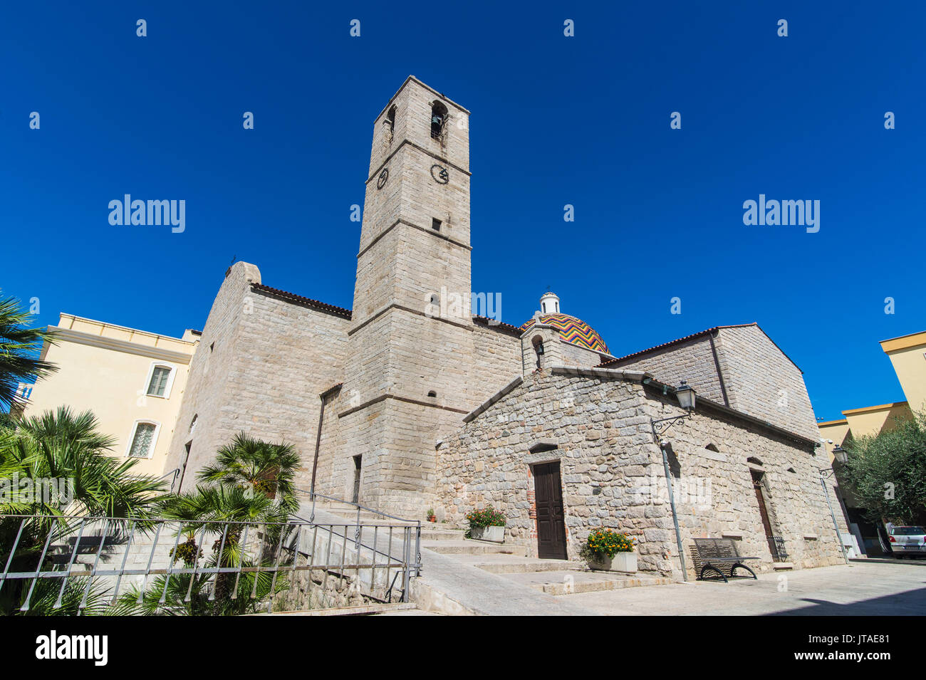 Church of St. Paul the Apostle, Olbia, Sardinia, Italy, Mediterranean, Europe - Stock Image