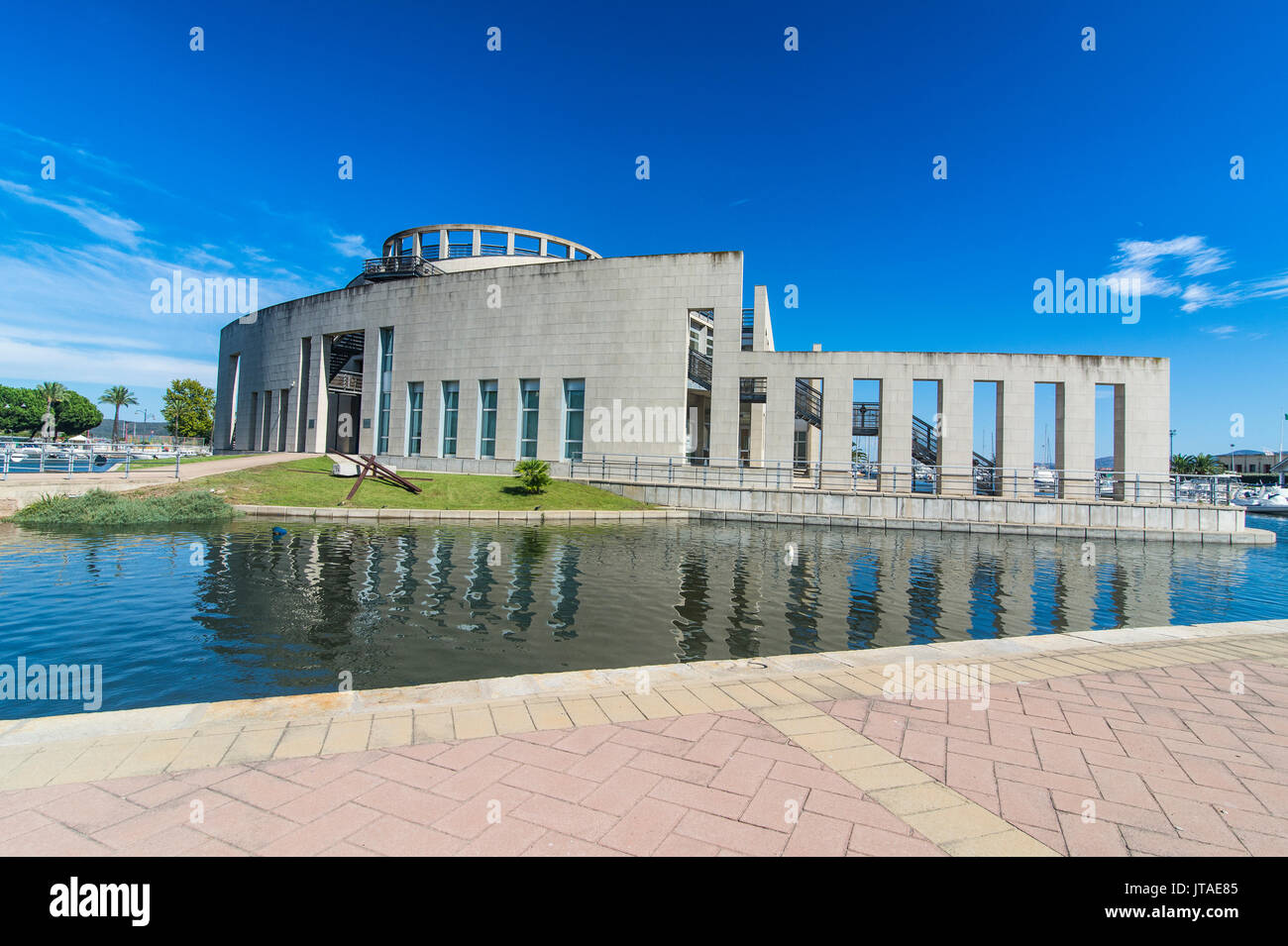 Modern National Archaeological Museum of Olbia, Sardinia, Italy, Mediterranean, Europe - Stock Image