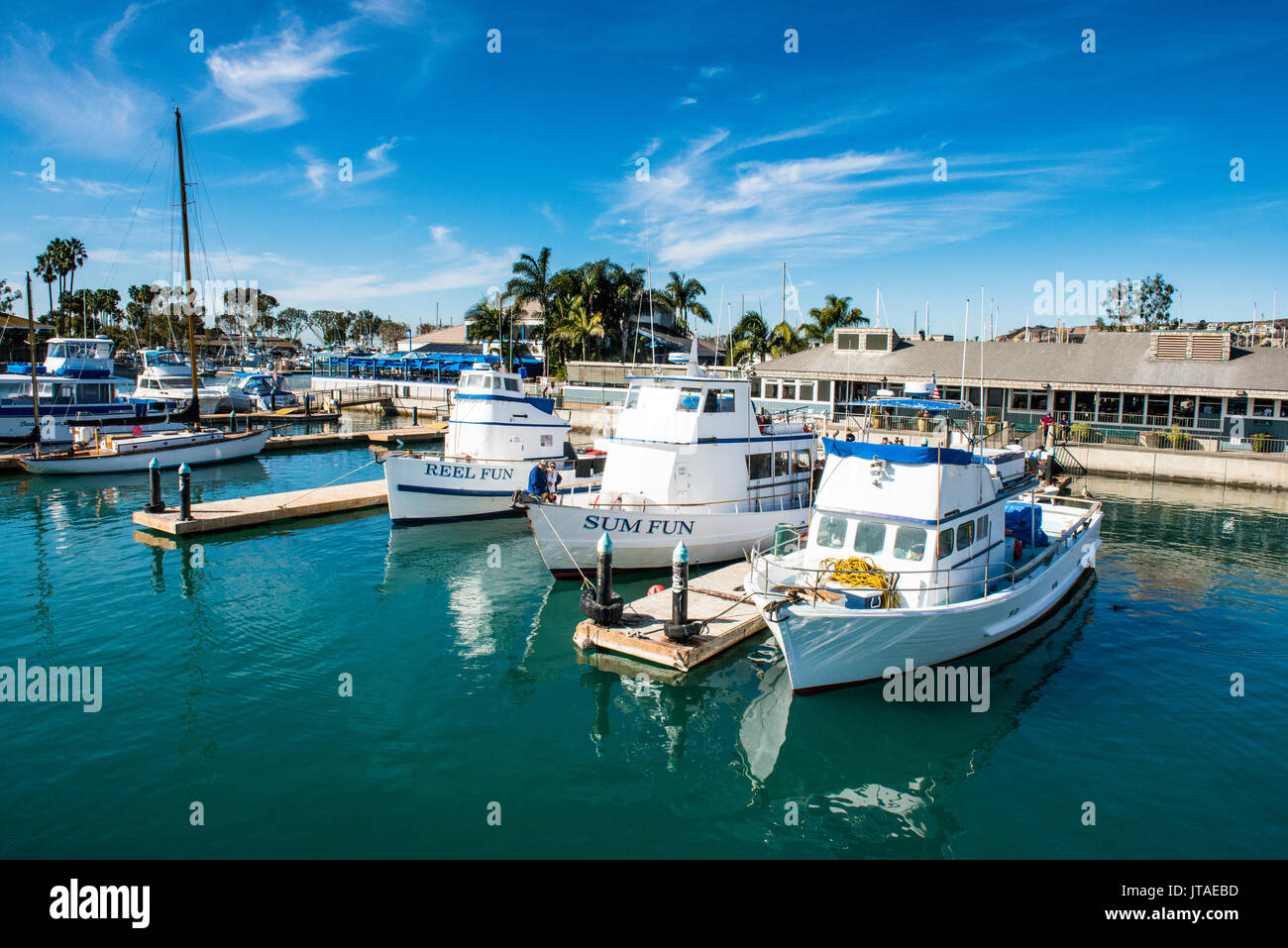 Harbour of Dana Point, ferry point to Santa Catalina Island, California, United States of America, North America - Stock Image
