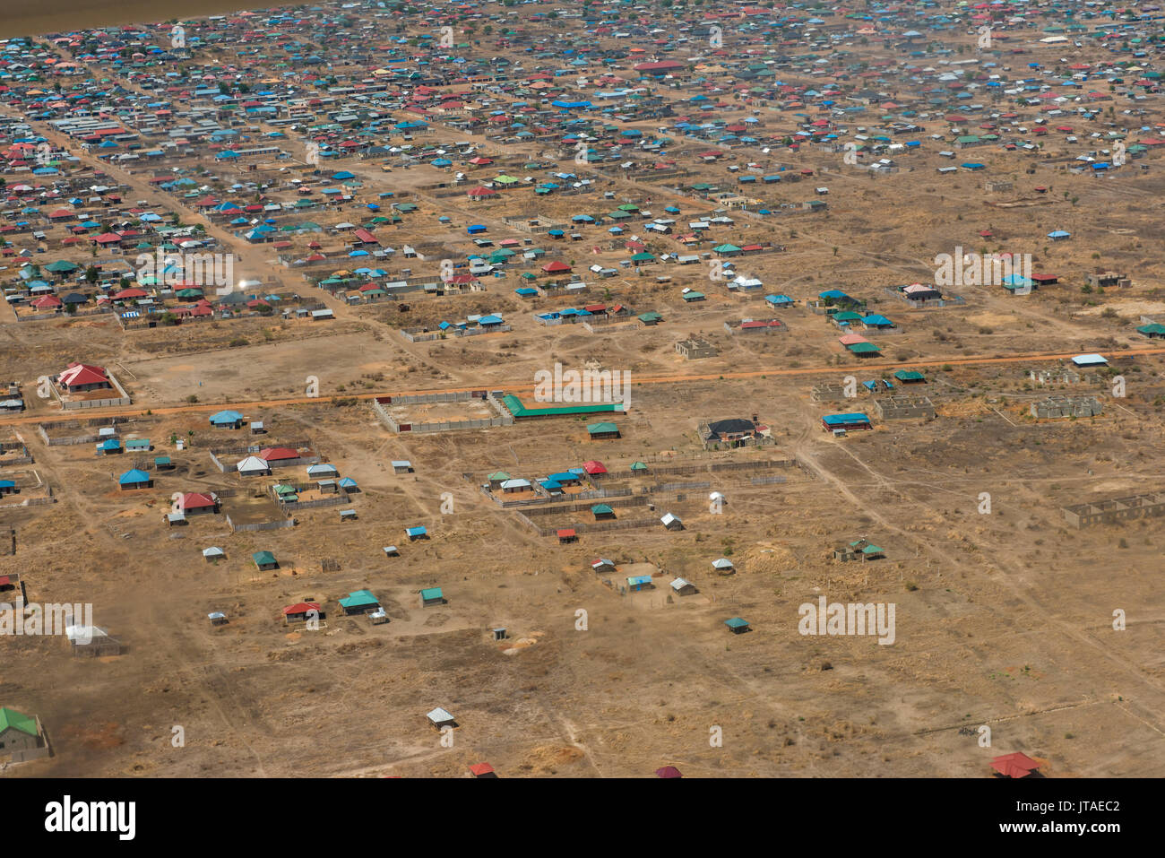 Aerial of Juba, South Sudan, Africa - Stock Image