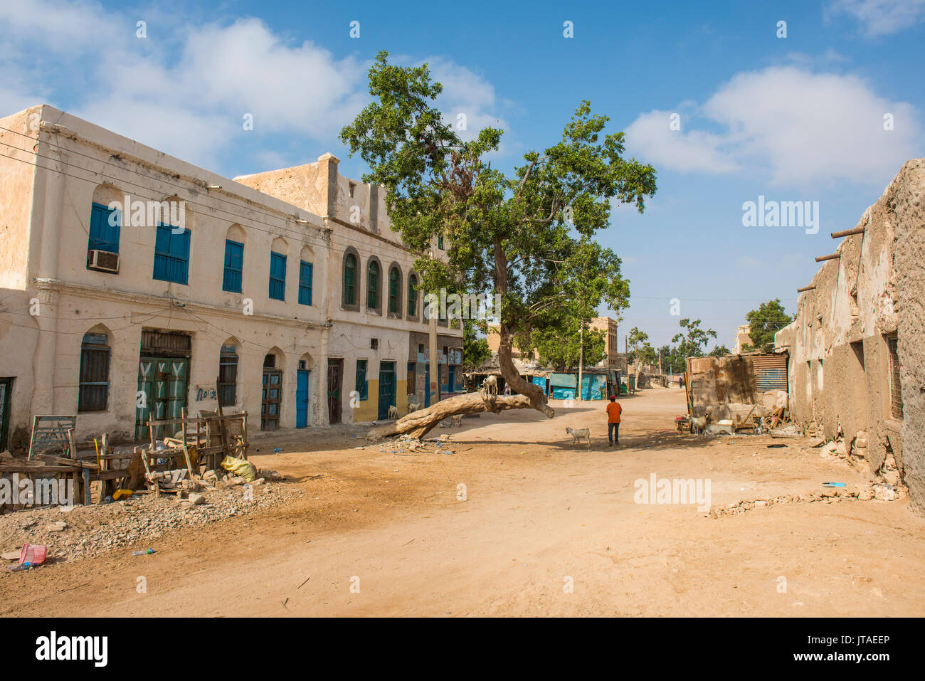 Old BBC radio station in the center of the coastal town of Berbera, Somaliland, Somalia, Africa Stock Photo
