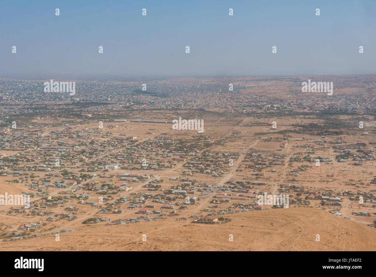 Aerials of Hargheisa, Somaliland, Somalia, Africa - Stock Image
