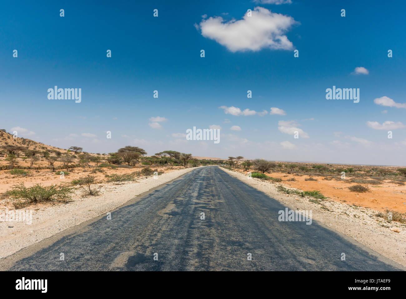 Road between Hargheisa and Berbera, Somaliland, Somalia, Africa - Stock Image