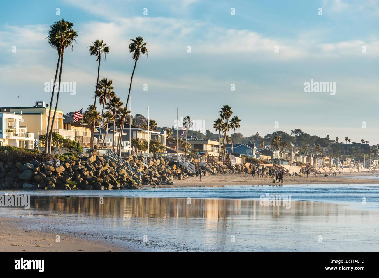 The beach of Del Mar, California, United States of America, North America - Stock Image