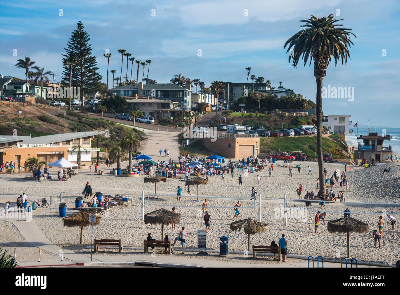 Beach of Encinitas, California, United States of America, North America - Stock Image