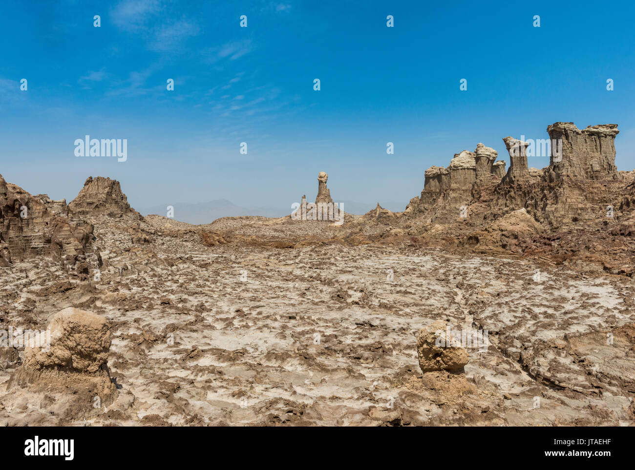 Sandstone formations in Dallol, hottest place on earth, Danakil depression, Ethiopia, Africa - Stock Image
