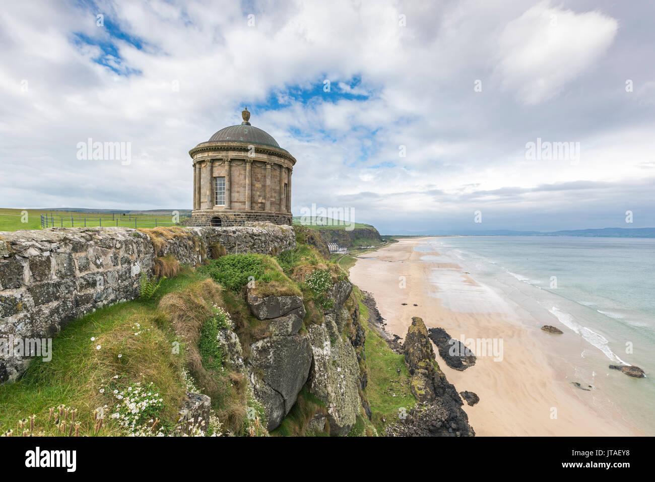 Mussenden Temple, Castlerock, County Londonderry, Ulster region, Northern Ireland, United Kingdom, Europe - Stock Image
