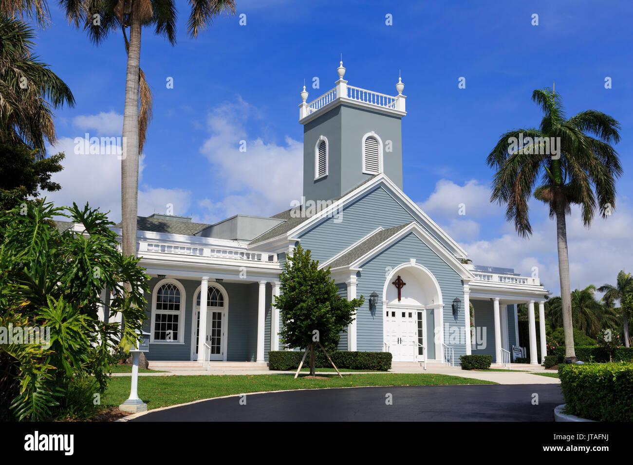 Royal Poinciana Chapel, Palm Beach, Florida, United States of America, North America - Stock Image