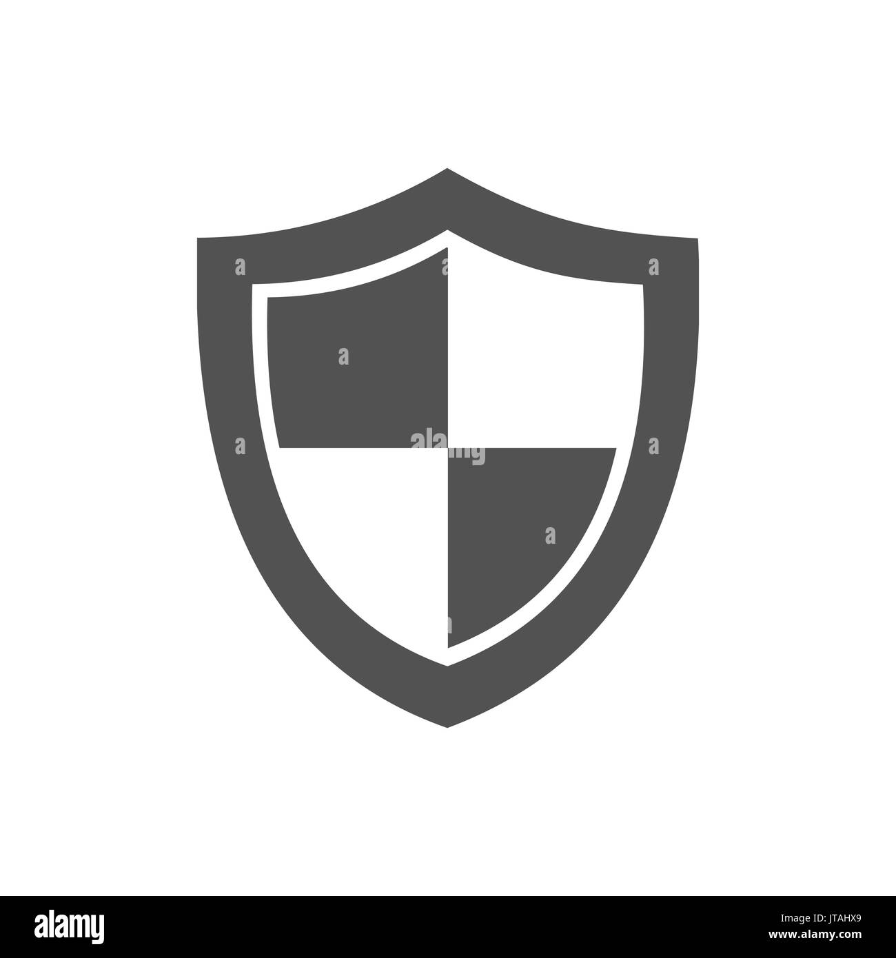 High security shield icon on a white background - Stock Image