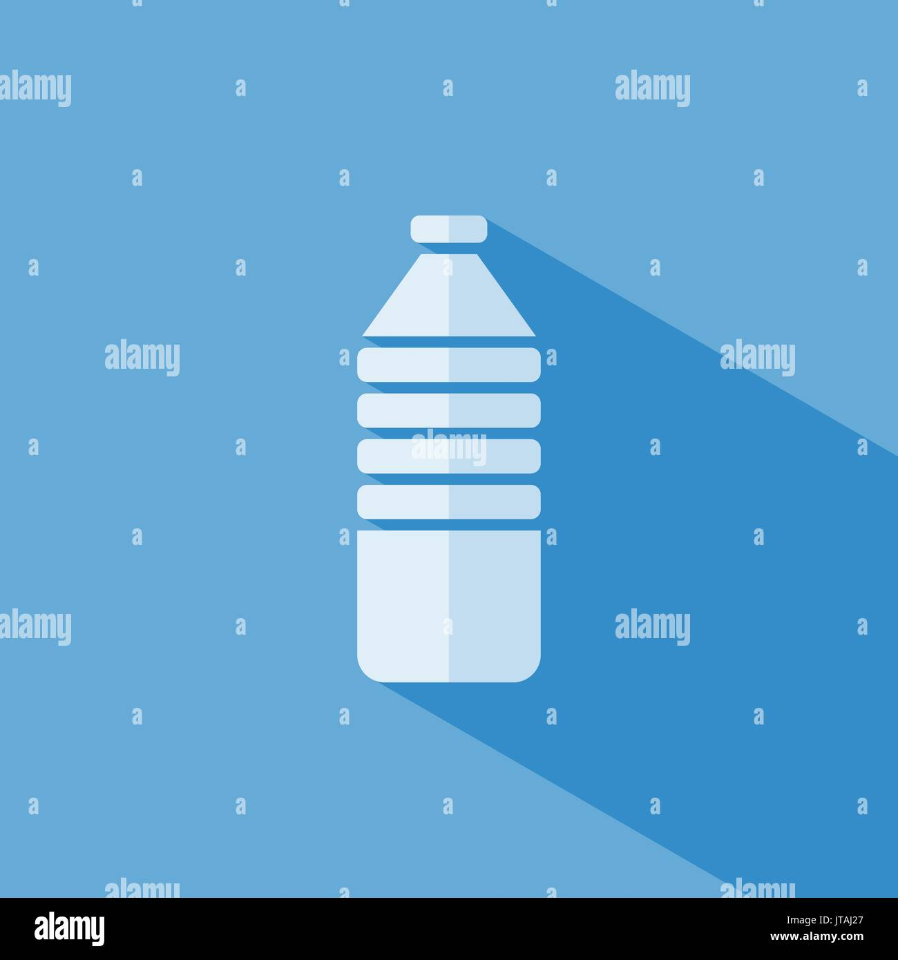 Water bottle icon on blue background - Stock Vector