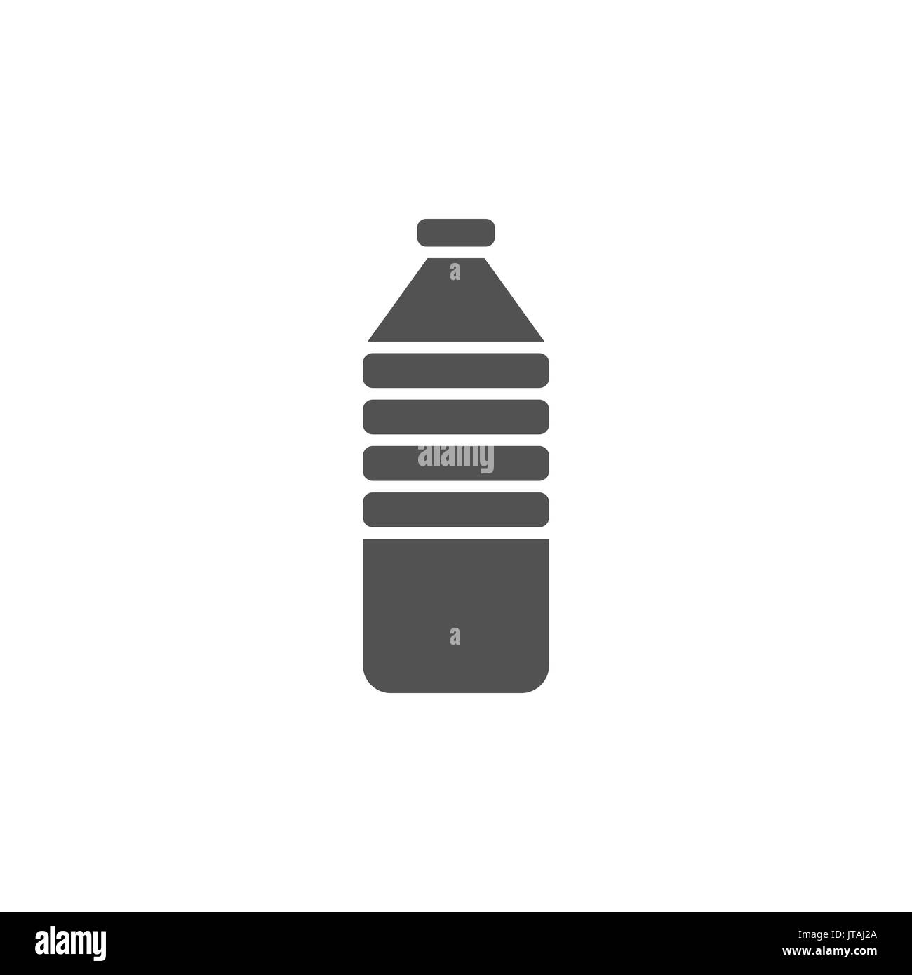 Water bottle icon on white background - Stock Vector