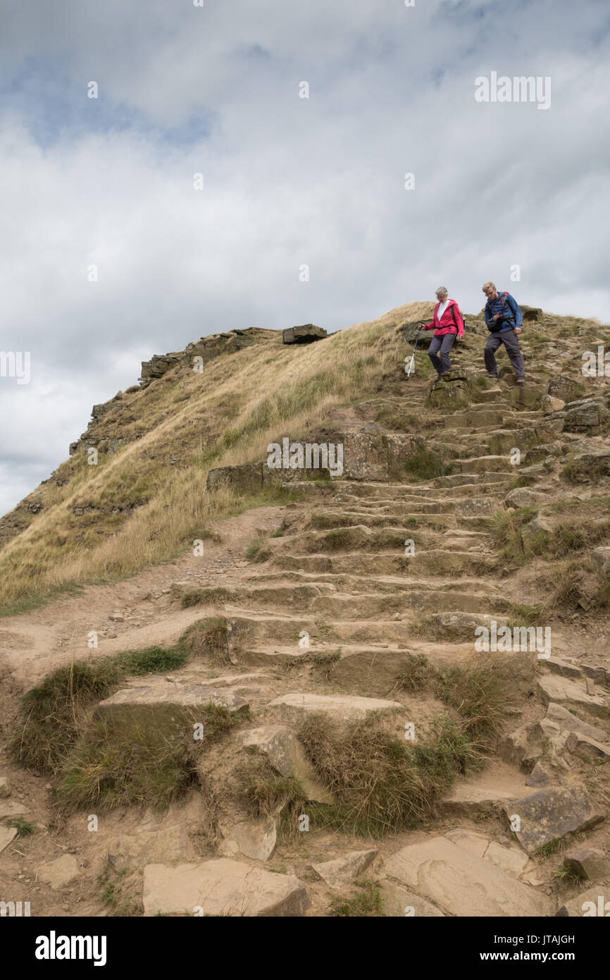 Back Tor on the Mam Tor ridge in the Peak District - Stock Image
