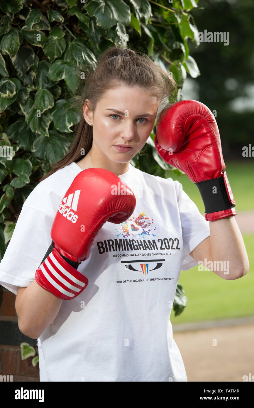 Elise Glynn is a boxer from Solihull, West Midlands. She fights in the 54kg category - Stock Image