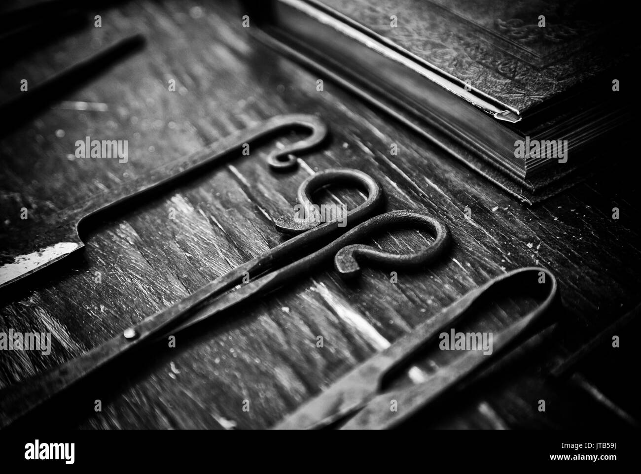 Skin care tool, detail of objects to work the skin, traditional crafts - Stock Image