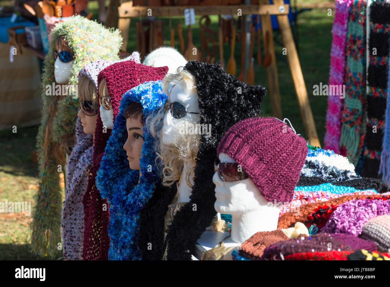 Harbourside markets at Coffs Harbour, New South Wales, Australia. - Stock Image