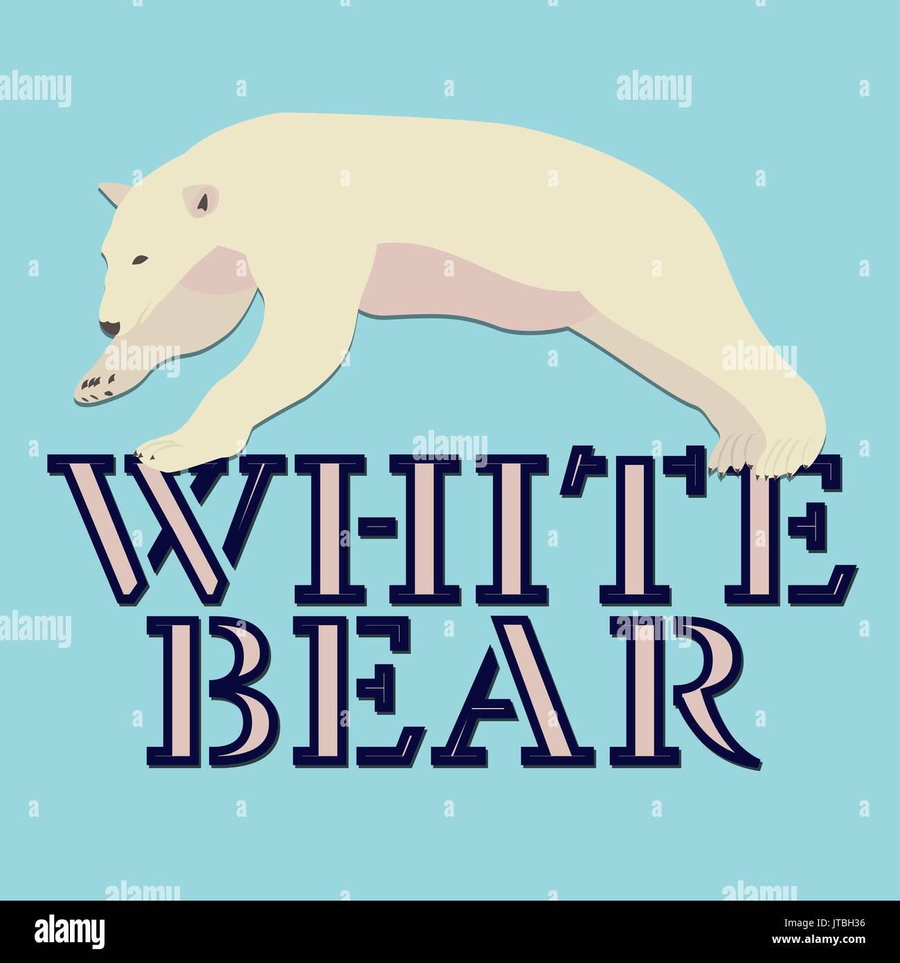 Polar white bear logo vector design Stock Vector