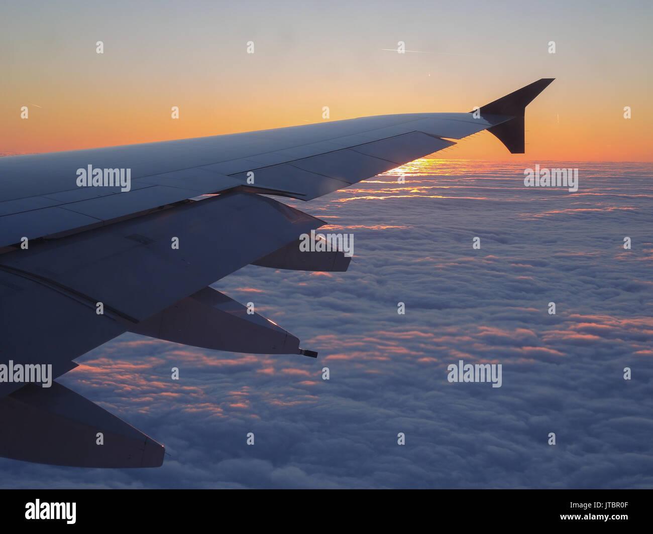Early  morning landing - Stock Image