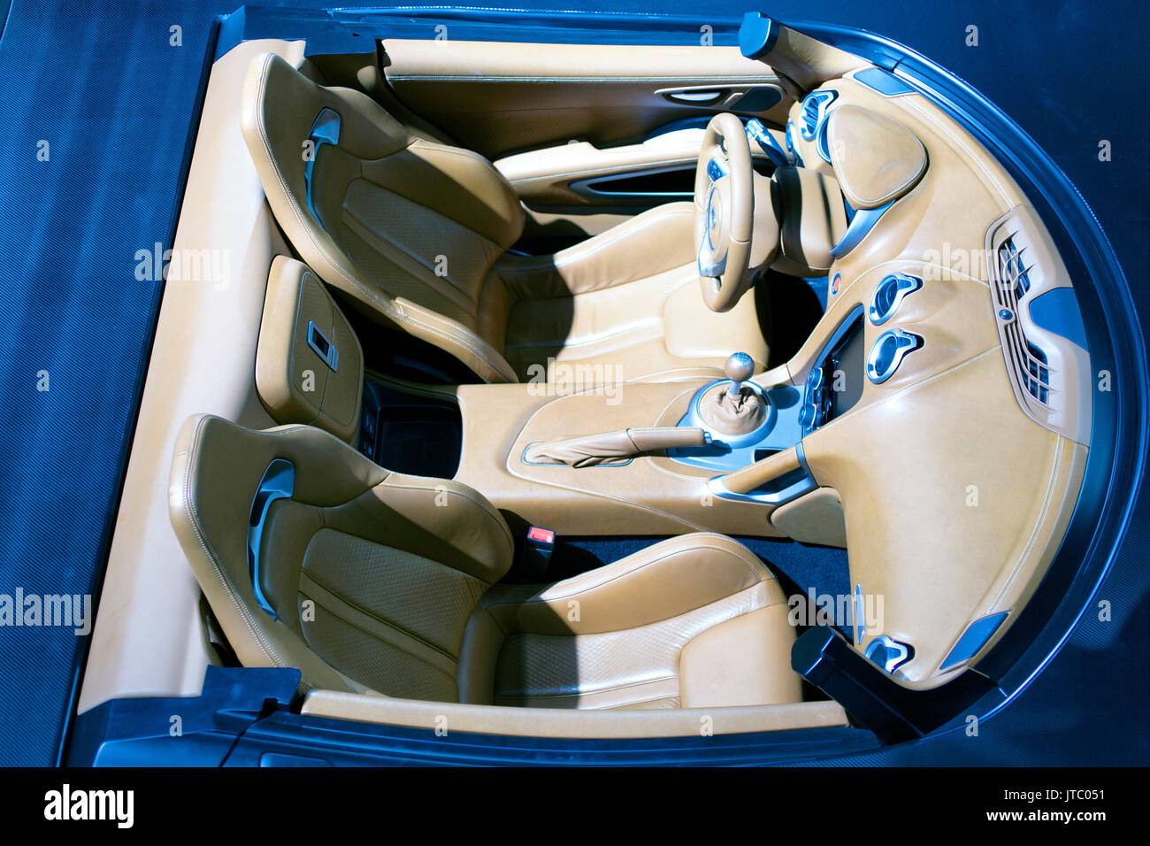 A luxury car interior Stock Photo