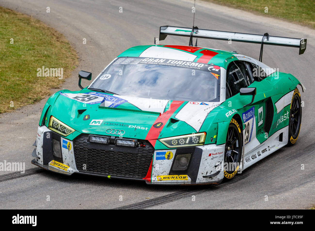 Audi r8 lms sports racing stock photos audi r8 lms sports racing 2017 audi r8 lms gt3 le mans endurance racer with driver connor de phillippi at the publicscrutiny Images