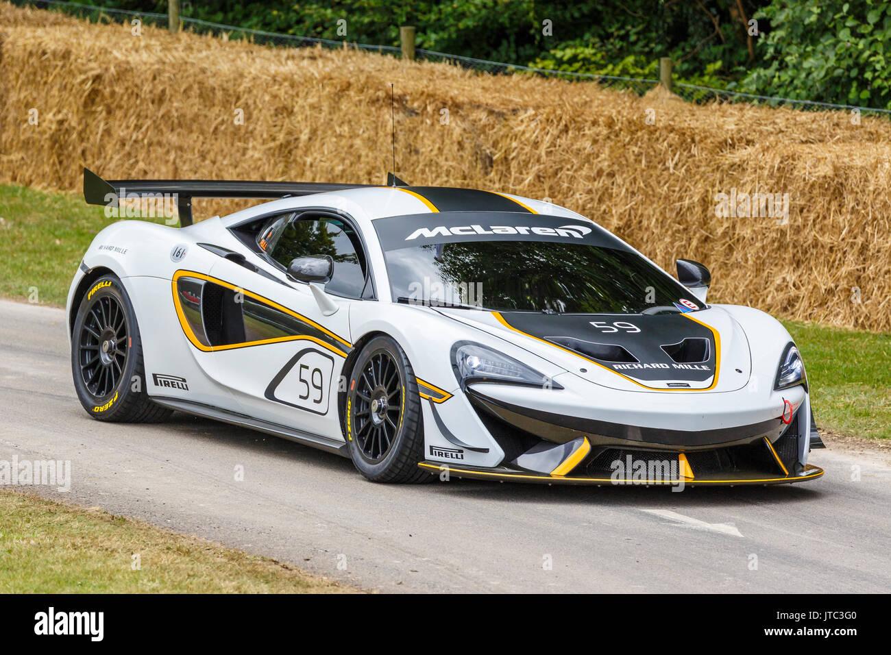 2017 mclaren 570s gt4 endurance racer at the 2017 goodwood festival