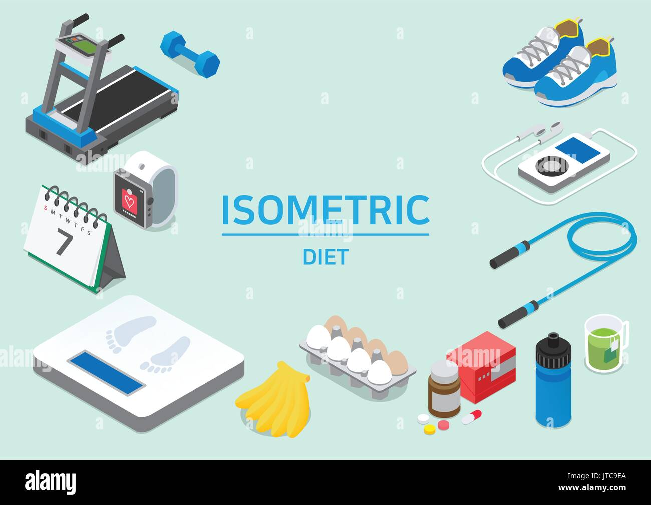 Isometric city - Stock Vector