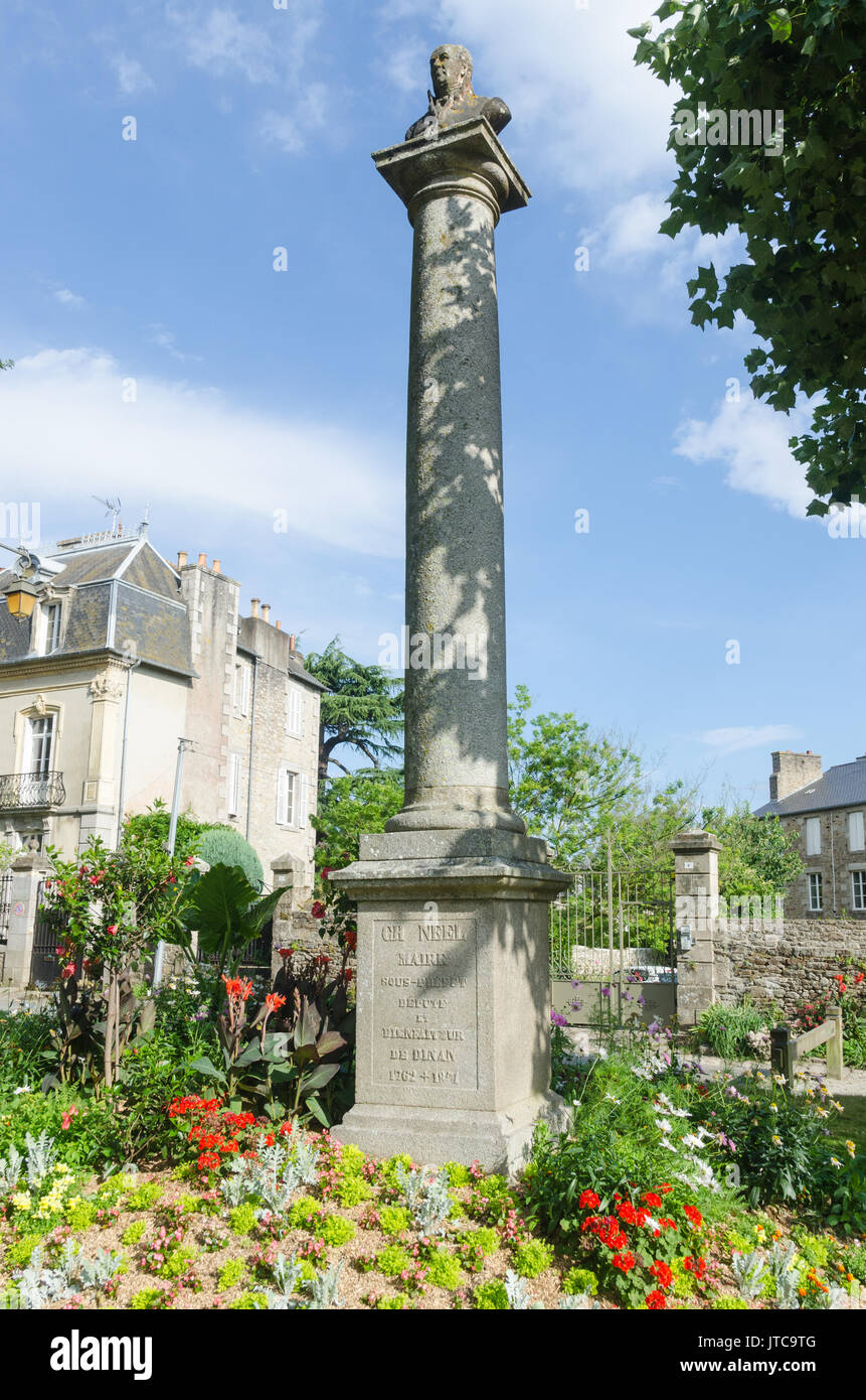 Jardin Anglais In The Medieval Town Of Dinan In Brittany North